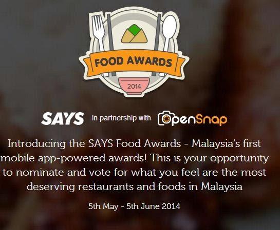Says food awards 2014