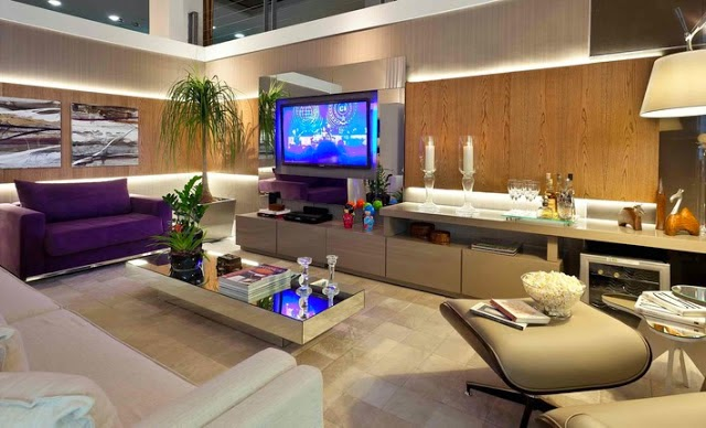 Blog Decoracao Sala De Tv ~ Em ambientes cinzas aposte em pontos de cor para dar uma alegrada!