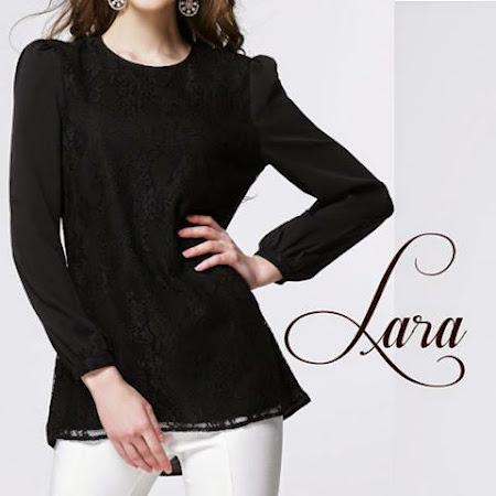 Rekaan Terbaru LAra Lace Puffy blouse Sangat MEnawan Dengan Pelbagai Warna Warna Manis
