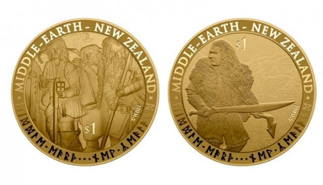the hobbit, gold coins, new zealand