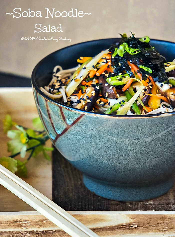 Japanese Buckwheat Noodles with Vegetables
