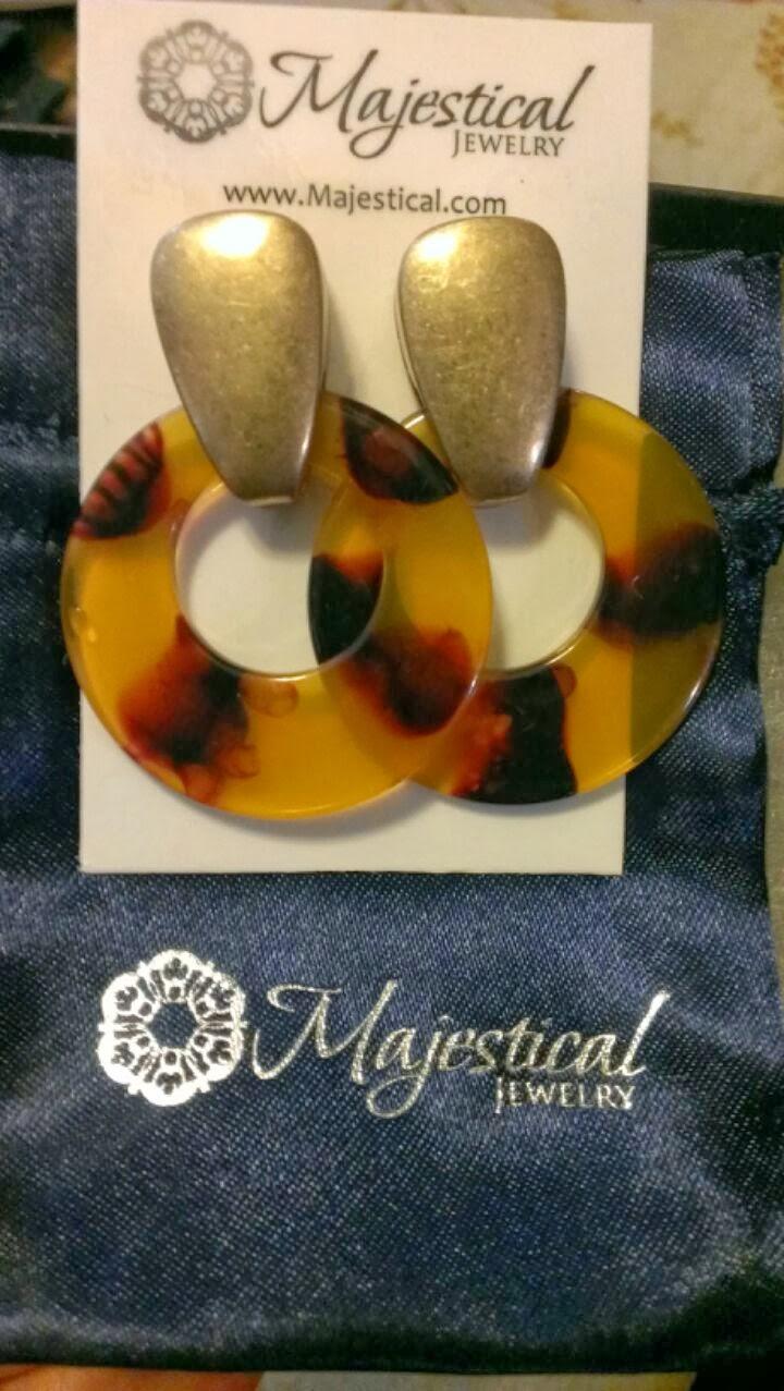 majestical tortoiseshell earrings