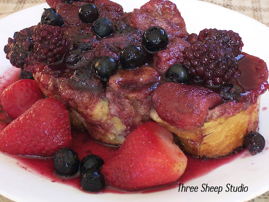 Baked French Toast With Berries