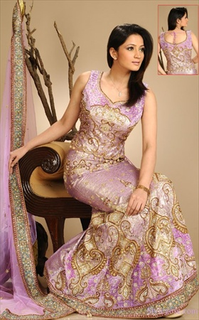 woven sari