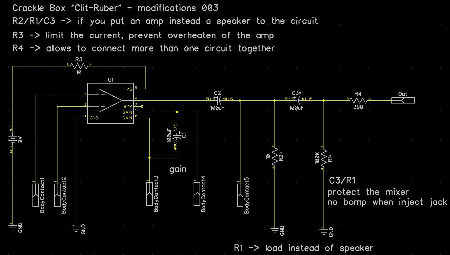 Crackle Box Schematics And Modifications Part 1 Jtus Journey Opamp Audio Mixer Circuit Diagram With Ne5532 More