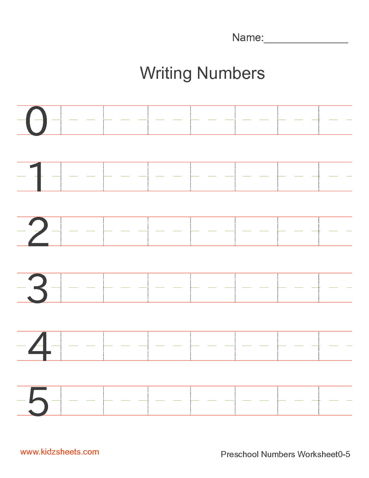 Free Handwriting Sheets
