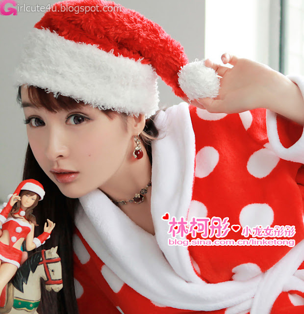 3 Linke Tong glowing Christmas Maid Princess first series-very cute asian girl-girlcute4u.blogspot.com