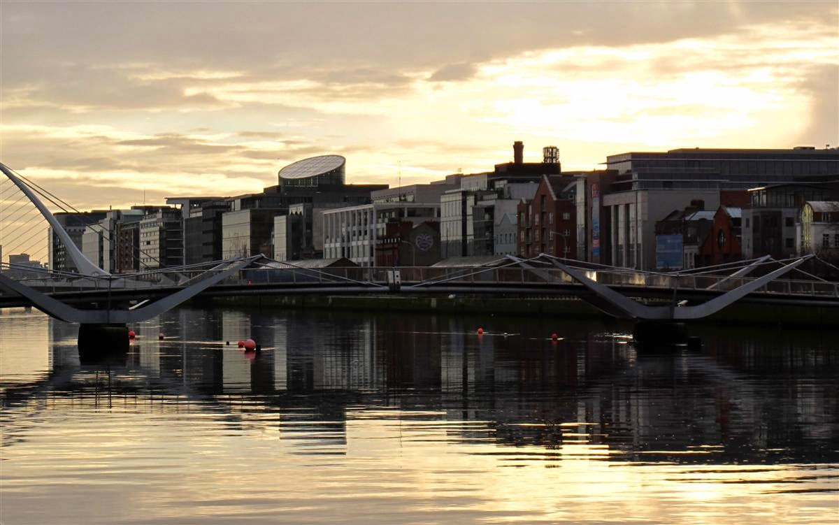 Dublin view at sunrise