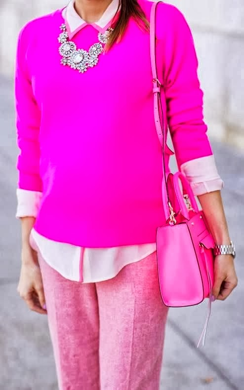 Amazing Pink Outfit - Pink Pant with Cute Pink Shirt and Necklace