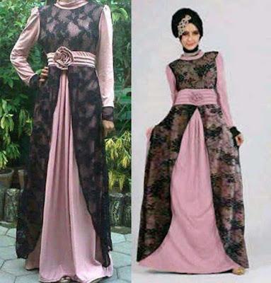Model Baju Muslim Gamis Untuk Ke Pesta
