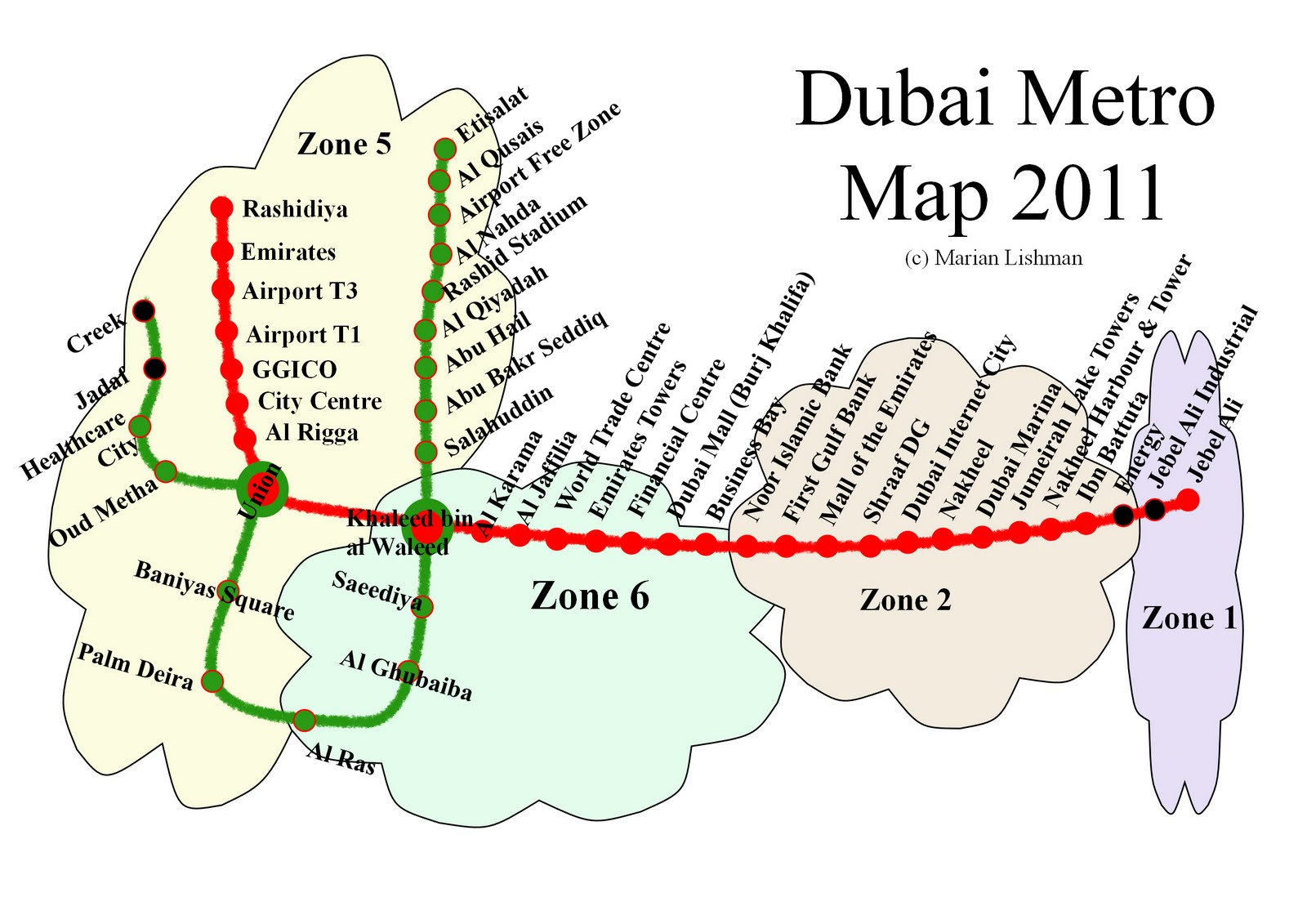 Dubai Metro Blog: Dubai Transport Zones Increase From 5 to 7