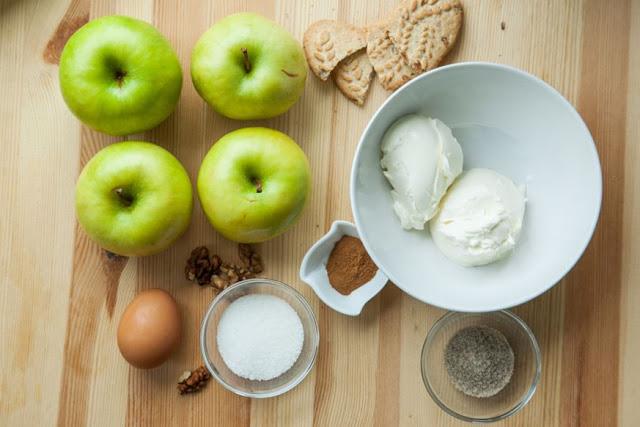 manzanas, manzana, queso, nueces, receta, recetas, recetas caseras, postres, postres caseros,