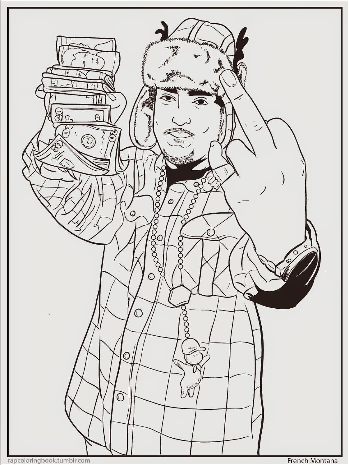 Drake rapper coloring pages