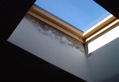 Puente térmico en ventana de cubierta