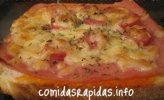 minipizza de pan