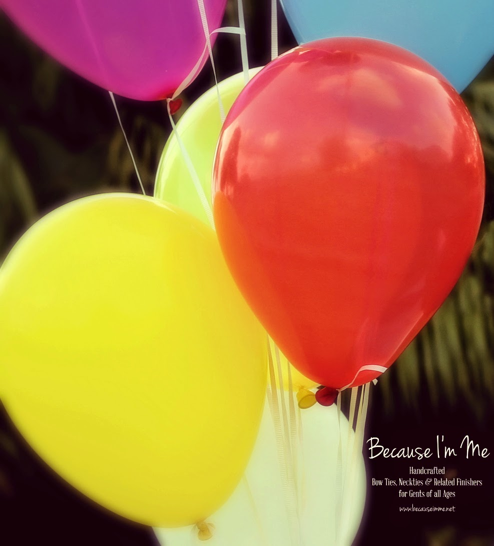 Because I'm Me multi colored balloons