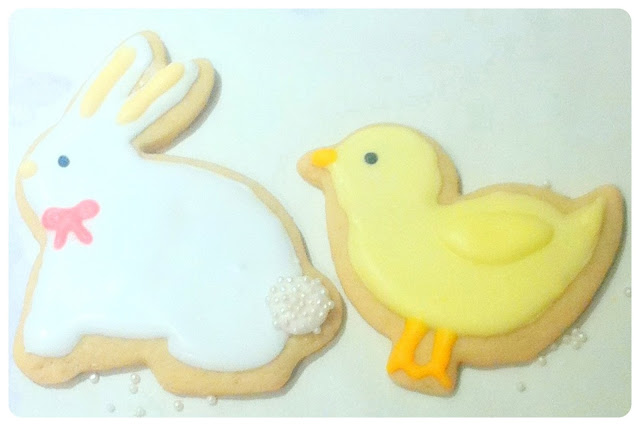 Cherie Kelly's Iced Easter Rabbit and Chicken Lime Cookies