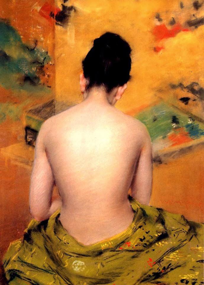 """""""Nudo di schiena"""" de  William Merritt Chase, Manuel Altolaguirre, Poesía, poesía en Alcalá de Henares"""