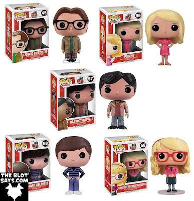 The Big Bang Theory Pop! Television Vinyl Figures by Funko - Leonard Hofstadter, Penny, Raj Koothrappali, Howard Wolowitz & Bernadette Rostenkowski-Wolowitz