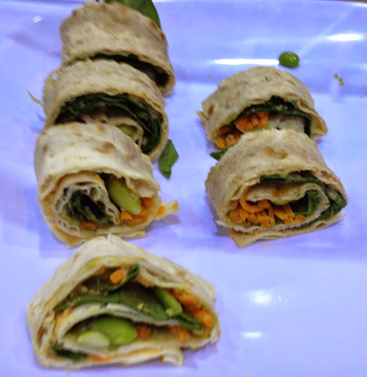 Avocado Edamame Wrap Vegan Recipe