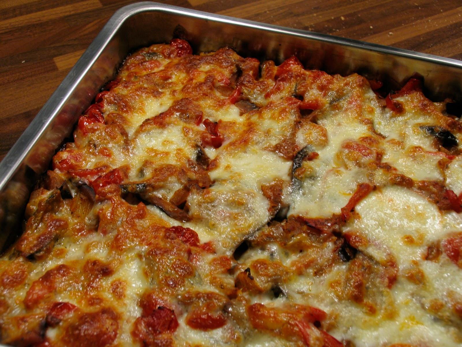 vegetarische ovenschotel aubergine