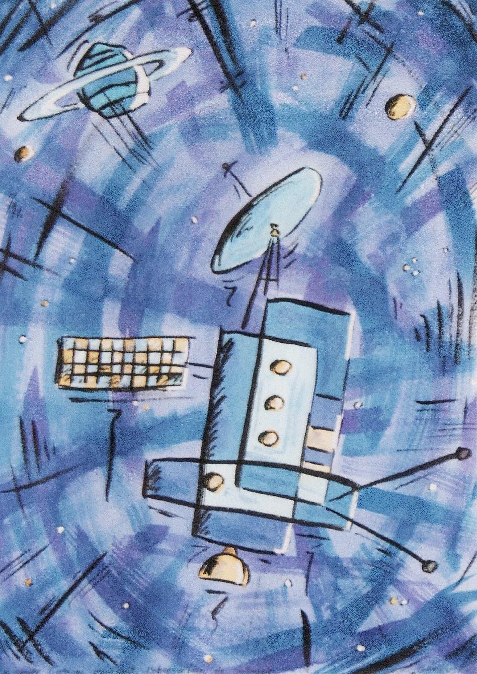 Sébastronome: Sonde spatiale - encre sur papier