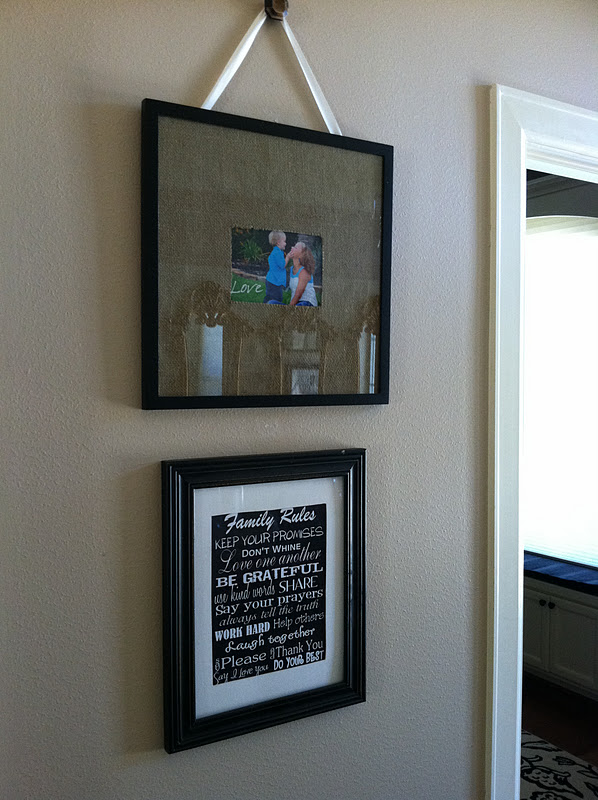 Prudently Painted Vintage Framed Family Subway Art