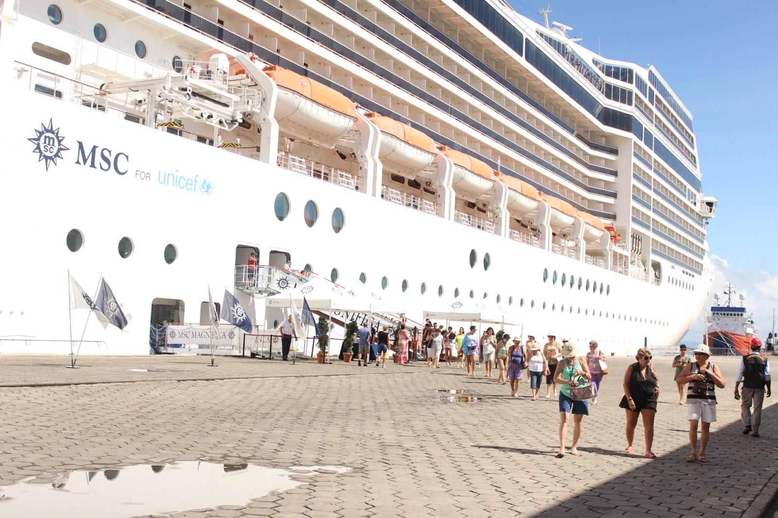 Tresilhasilheos navio msc magn fica aportou pela primeira for Msc magnifica foto