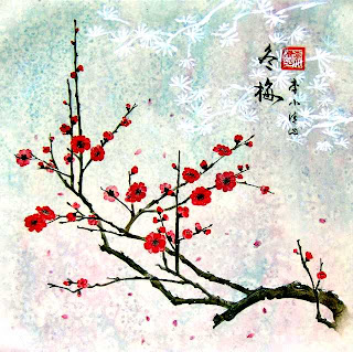Art wall decor japanese bamboo painting japanese brush for Mural de chine