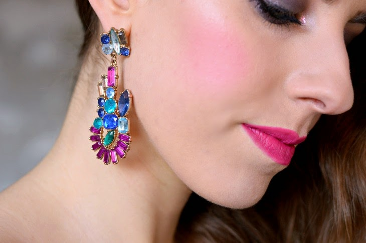 Makeup look capodanno Zara Colorful Earrings Mulac Cosmetics Flamingo The Sparkling Cinnamon