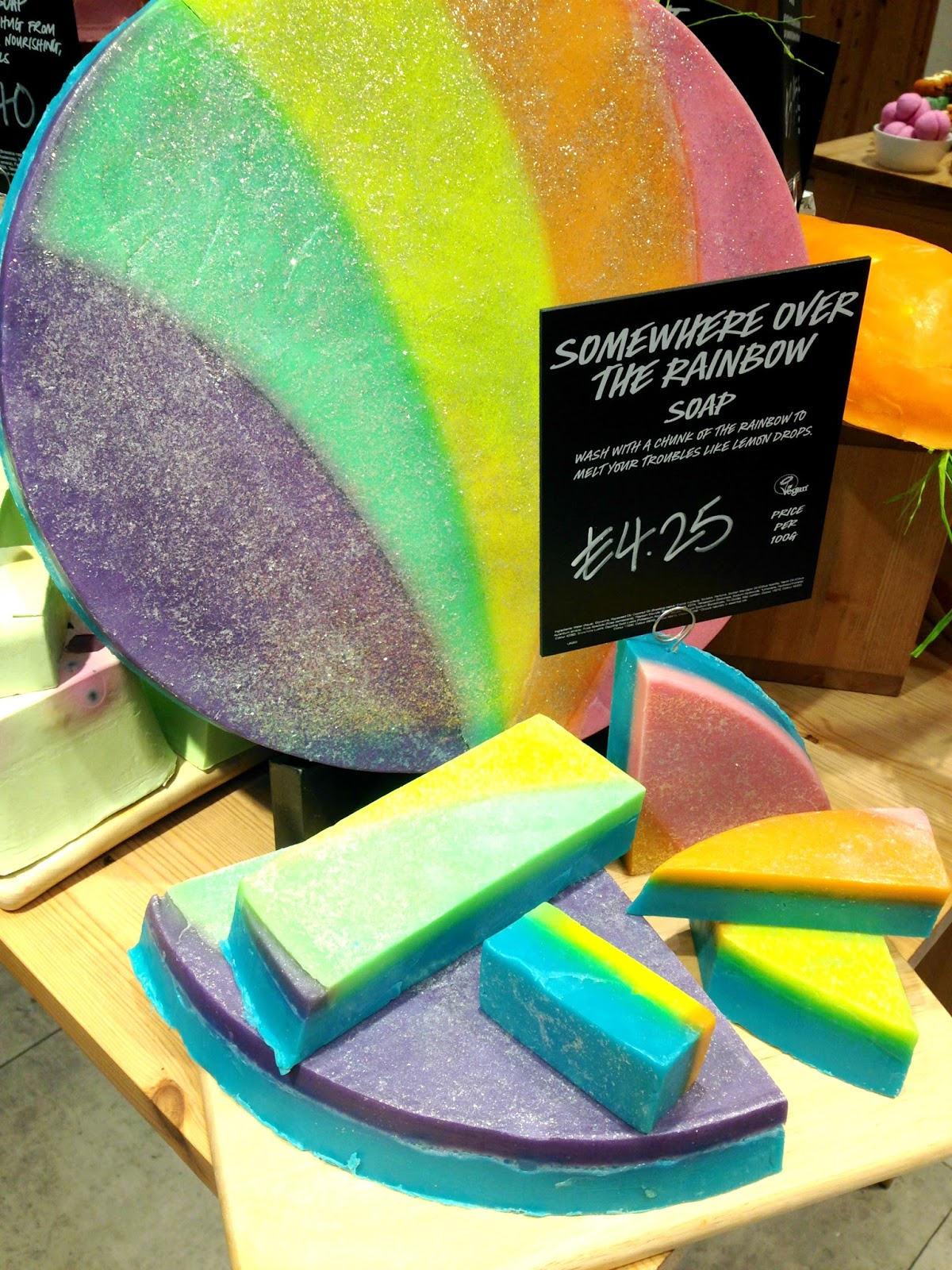Somewhere Over the Rainbow Soap Lush