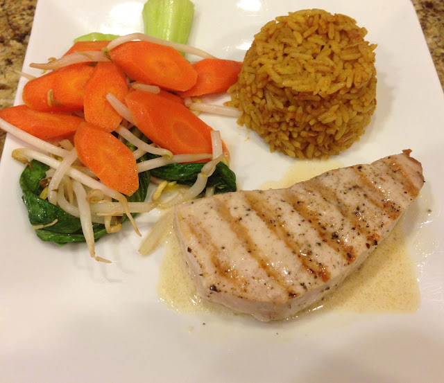 Taste of hawaii grilled striped marlin dinner at home for Marlin fish recipes
