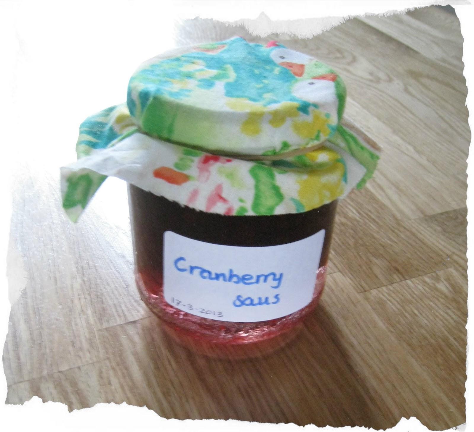 Zelf gemaakte cranberry saus met recept