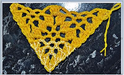 ponto aranha de crochê com gráfico