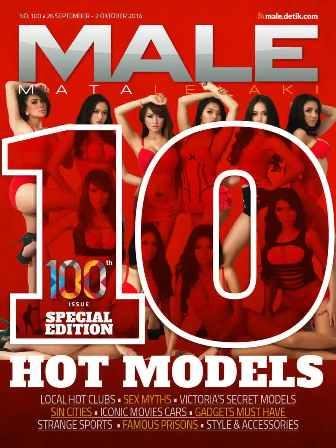 Gratis Majalah MALE 100th Issue Special Edition | MALE Mata Lelaki 100 Indonesia
