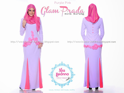 GLAM PRADA MINI KURUNG - PURPLE PINK