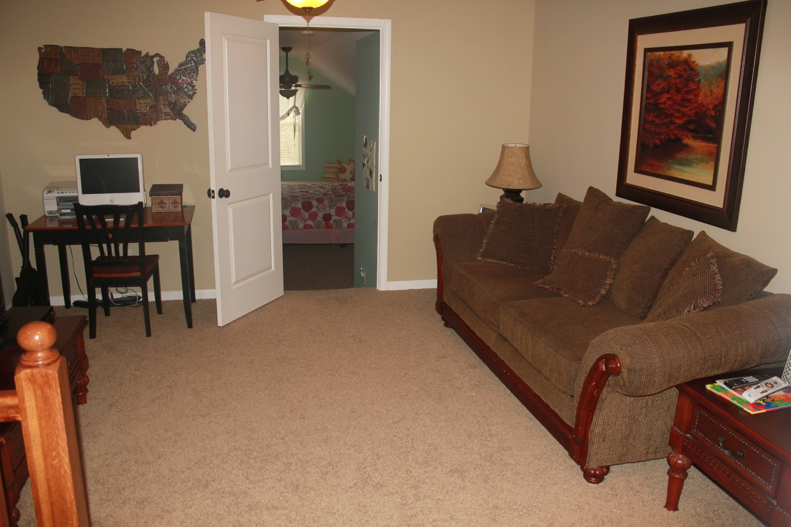 For sale 7117 coleman circle for Living room upstairs