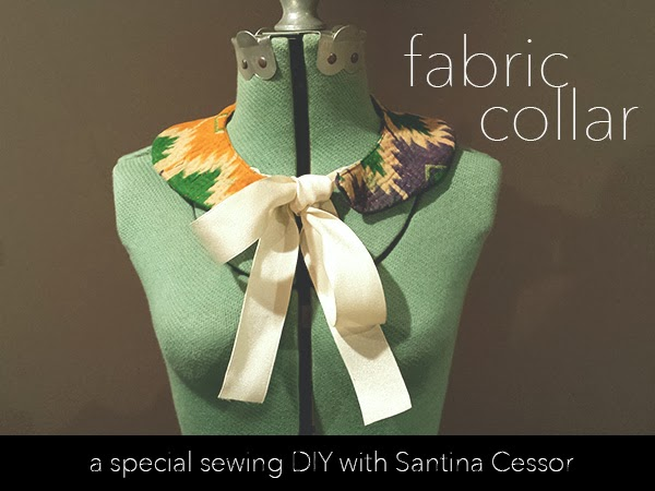 Sewing Kantha Fabric Collars with Santina Cessor