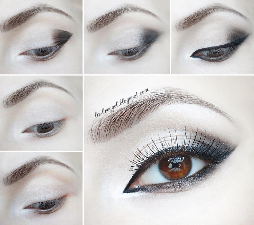 step by step smoky eyes gothic makeup tutorial makeup brown eyes