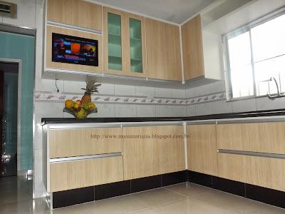 cozinha com tv embutida