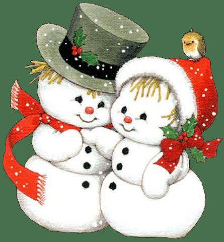 imagen de lindos pinguinos navideños