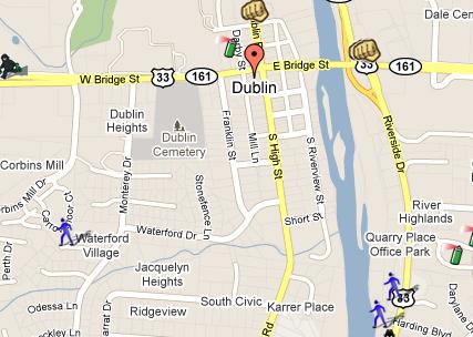 dublin ohio map illinois map