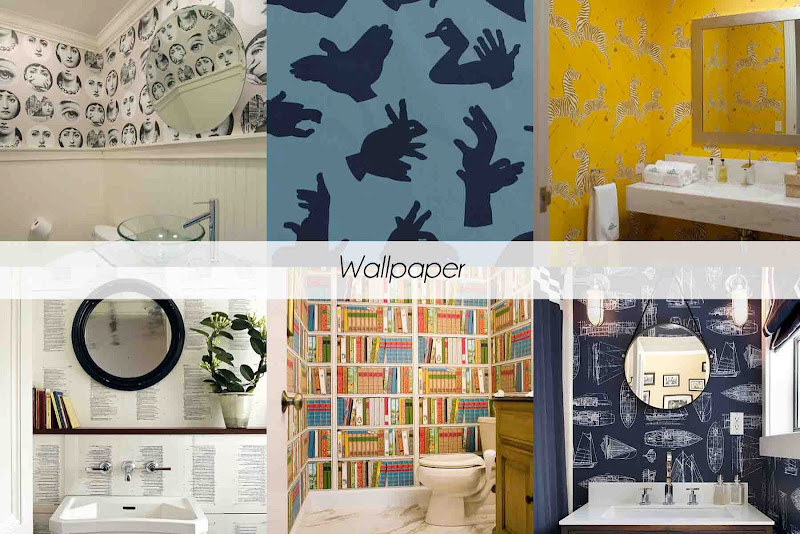 Create a feature wall by using a bright and eye catchingwallpaper, you  title=