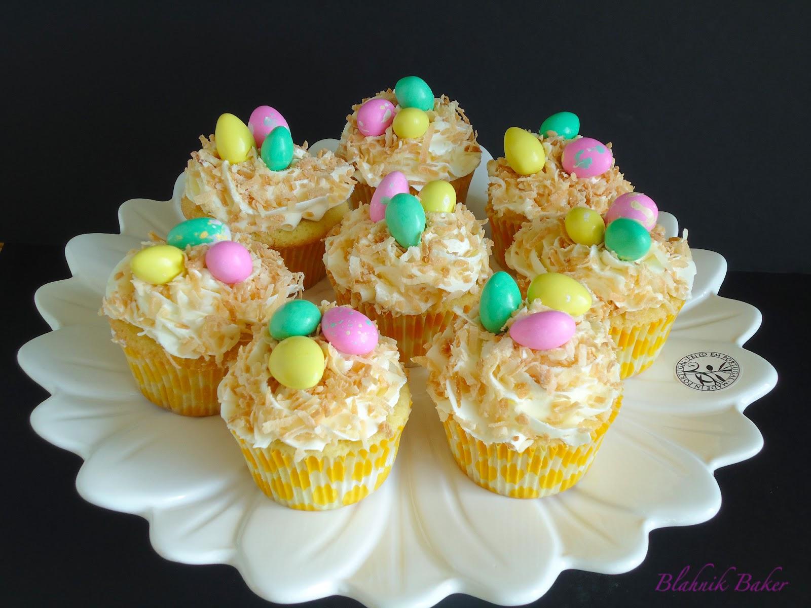 Coconut Cupcakes {Bird Nest Cupcakes} - Blahnik Baker