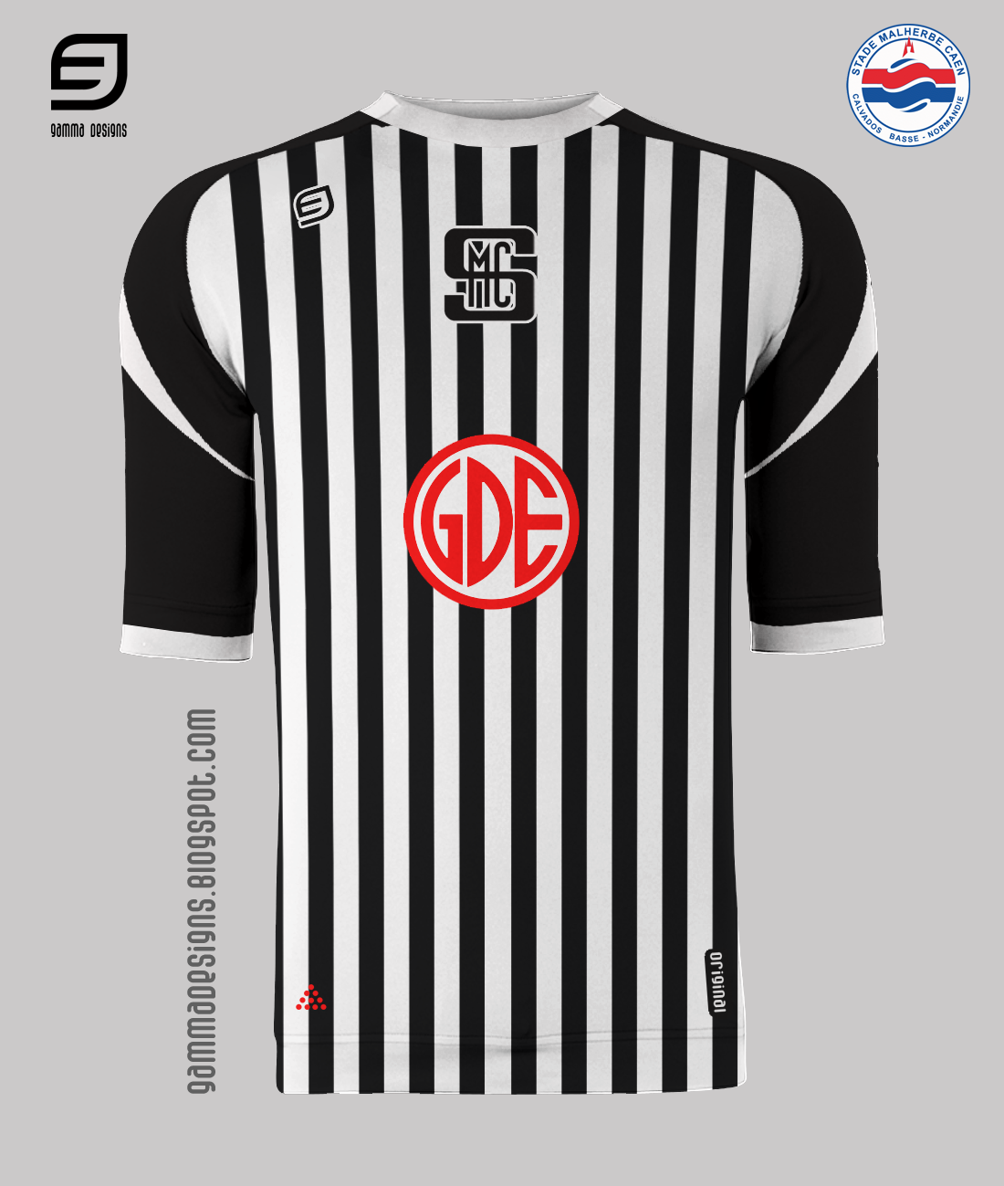 Gamma designs small tribute to ligue 2 caen for Inter home design