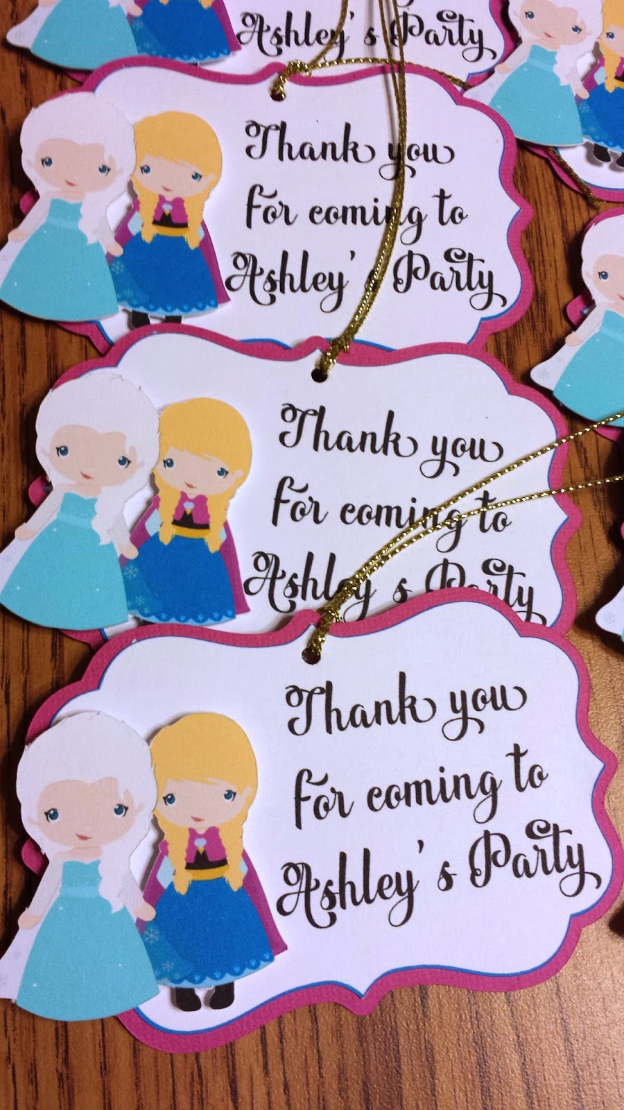 handmade invitations, gift tags, banner