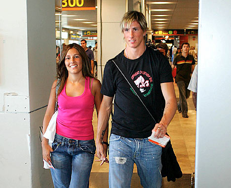 All Super Stars: Fernando Torres And His Wife Olalla ...