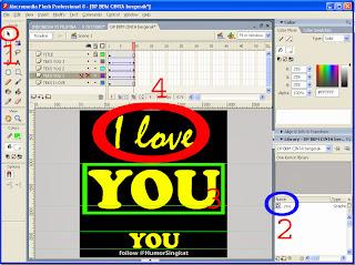 Belajar merubah teks gambar animasi untuk DP BBM Cinta bergerak