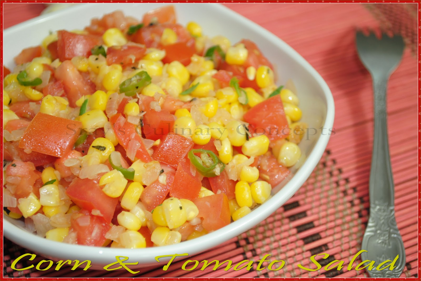Corn and tomatoes pair perfectly with milky crunch of fresh corn and ...
