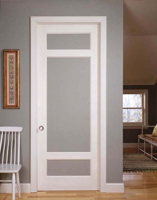 Interior french doors with frosted glass for Interior glass french doors